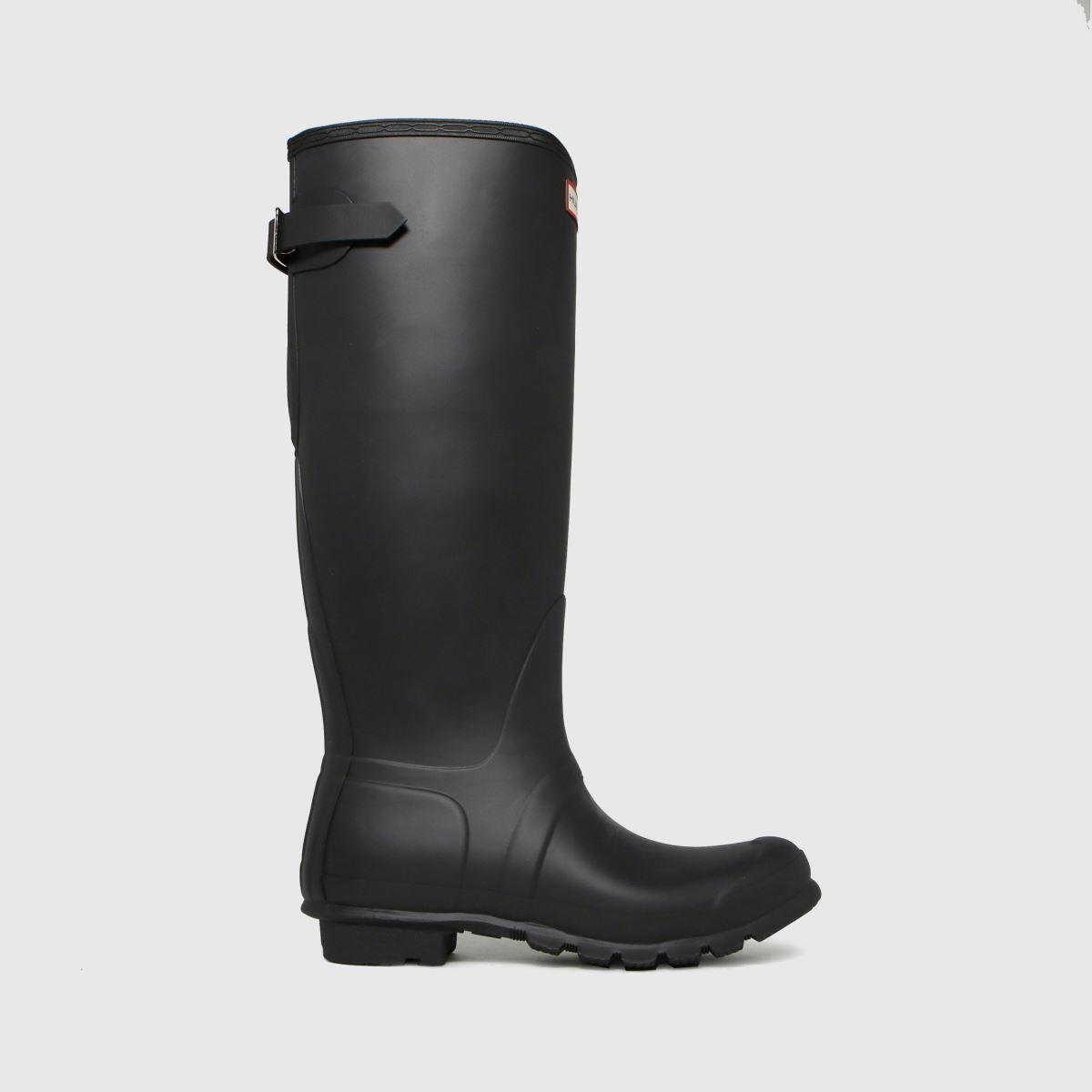 Hunter Black Original Tall Back Adjustable Boots