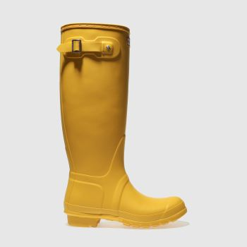 Hunter Yellow Original Tall Womens Boots