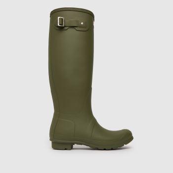 Hunter Khaki Original Tall Boot Womens Boots