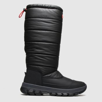 Hunter Black Insulated Snow Boot Tall Womens Boots