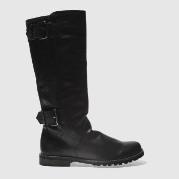 Red Or Dead Black STOP Boots