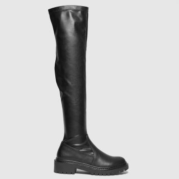 schuh Black Daisy Over The Knee Womens Boots