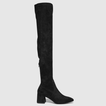 schuh Black Daz Pointed Over The Knee Womens Boots