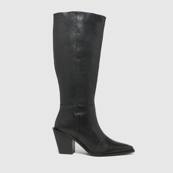 schuh Black Duke Leather Pull On Womens Boots