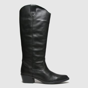 Red Or Dead Black Ryder Leather Knee Womens Boots