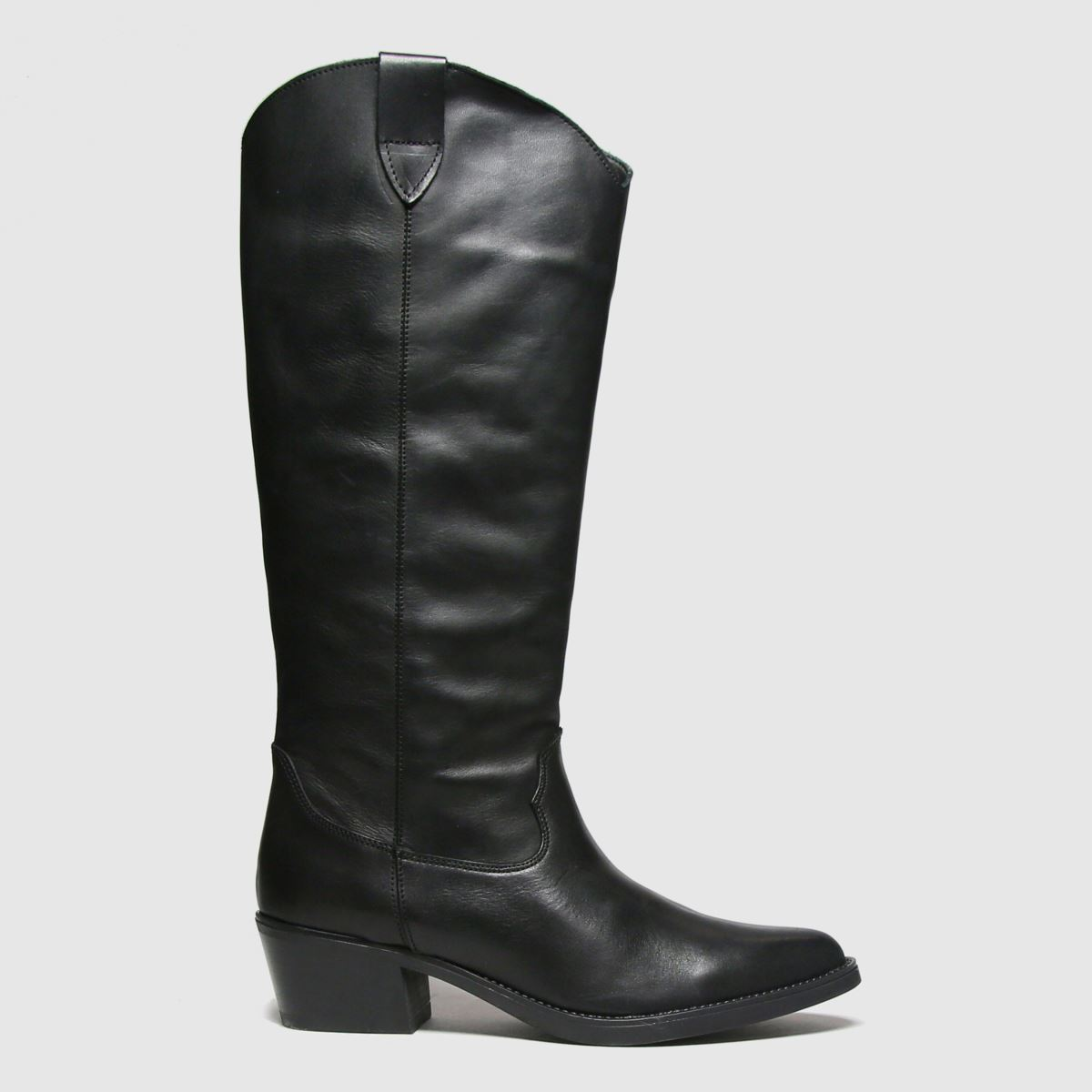 RED OR DEAD Black Ryder Leather Knee Boots