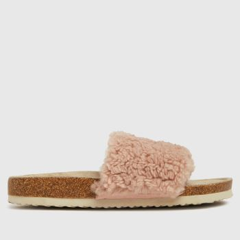 schuh Pale Pink Hopperteddy Slider Womens Slippers
