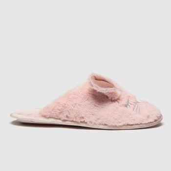 schuh Pink Hazel Faux Fur Mule Womens Slippers