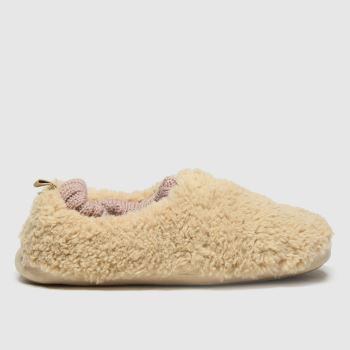 schuh Beige Halle Faux Fur Womens Slippers
