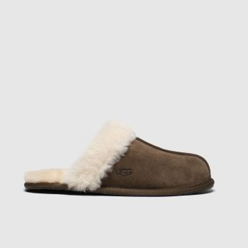 UGG Brown Scuffette Womens Slippers