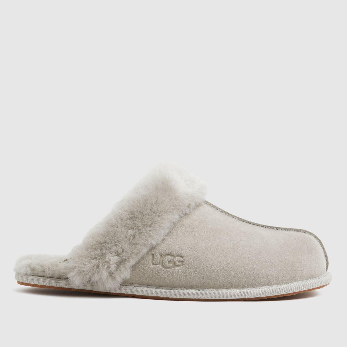 UGG Light Grey Scuffette Slippers