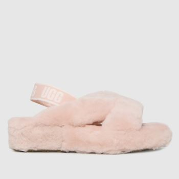 UGG Pale Pink Fab Yeah Slide Womens Slippers