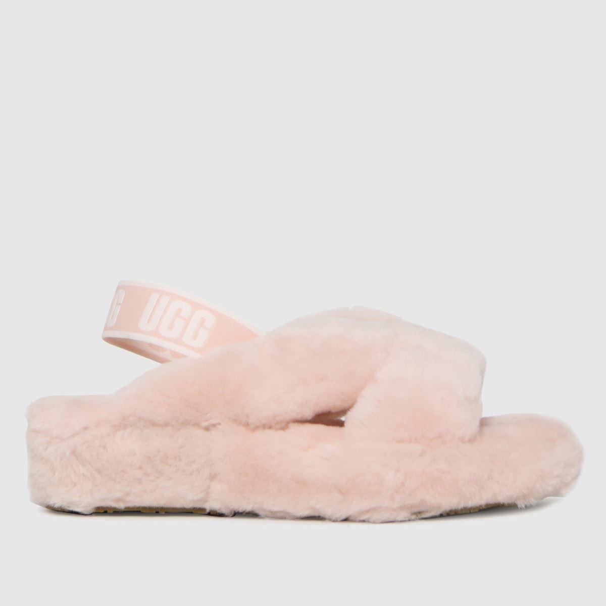 UGG Pale Pink Fab Yeah Slide Slippers