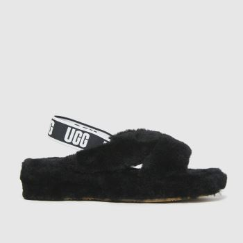 UGG Black Fab Yeah Slide Womens Slippers