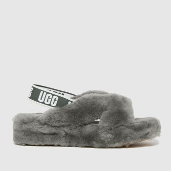 UGG Grey Fab Yeah Slide Womens Slippers