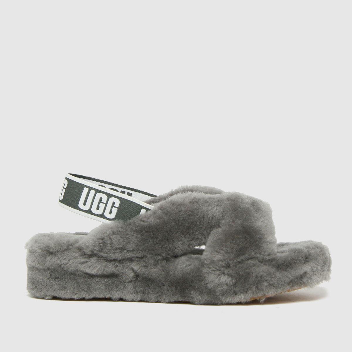 UGG Grey Fab Yeah Slide Slippers