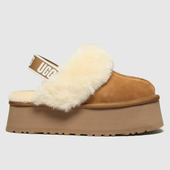 UGG Tan Funkette Womens Slippers