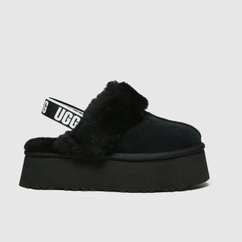 UGG Black Funkette Womens Slippers