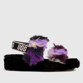 UGG Black & Purple Oh Yeah Tie Dye Womens Slippers