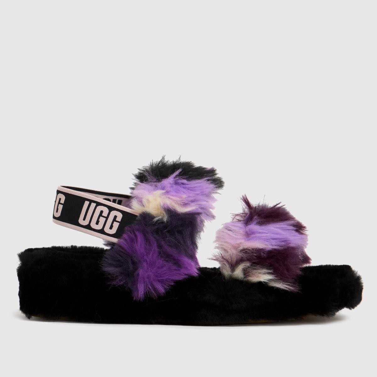 UGG Black & Purple Oh Yeah Tie Dye Slippers