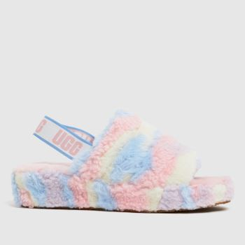 UGG Pale Pink Fluff Yeah Cali Pride Womens Slippers