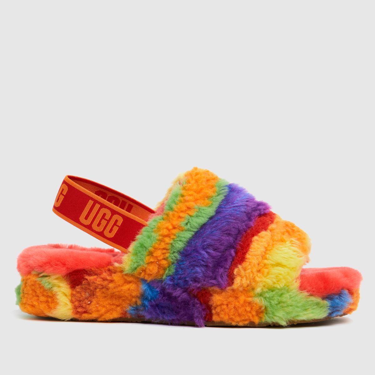 UGG Multi Fluff Yeah Cali Pride Slippers