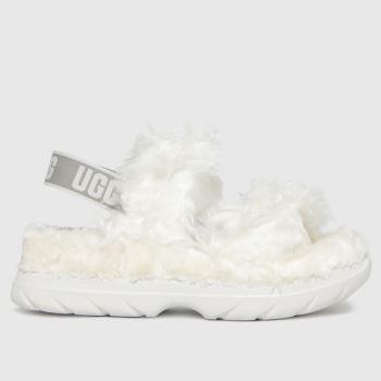 UGG White Fluff Sugar Sandal Womens Slippers
