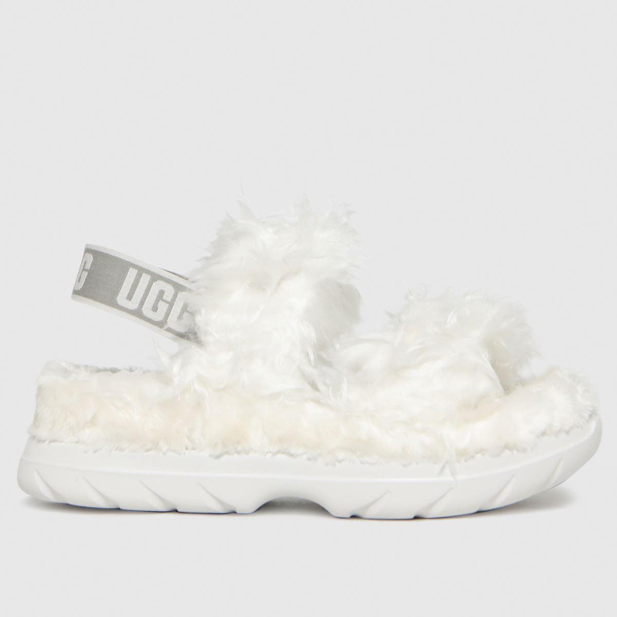 UGG White Fluff Sugar Sandal Slippers