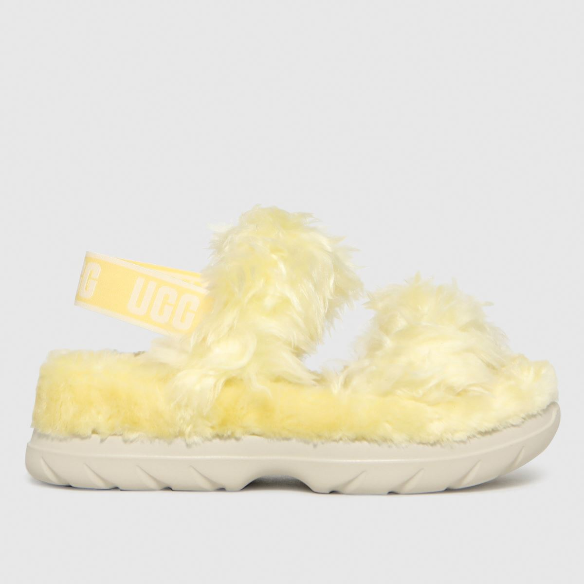 UGG Yellow Fluff Sugar Sandal Slippers