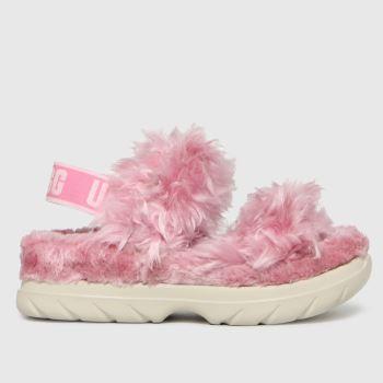 UGG Pink Fluff Sugar Womens Slippers