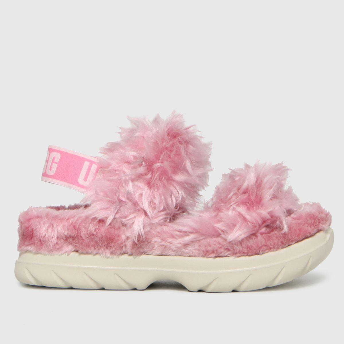 UGG Pink Fluff Sugar Slippers