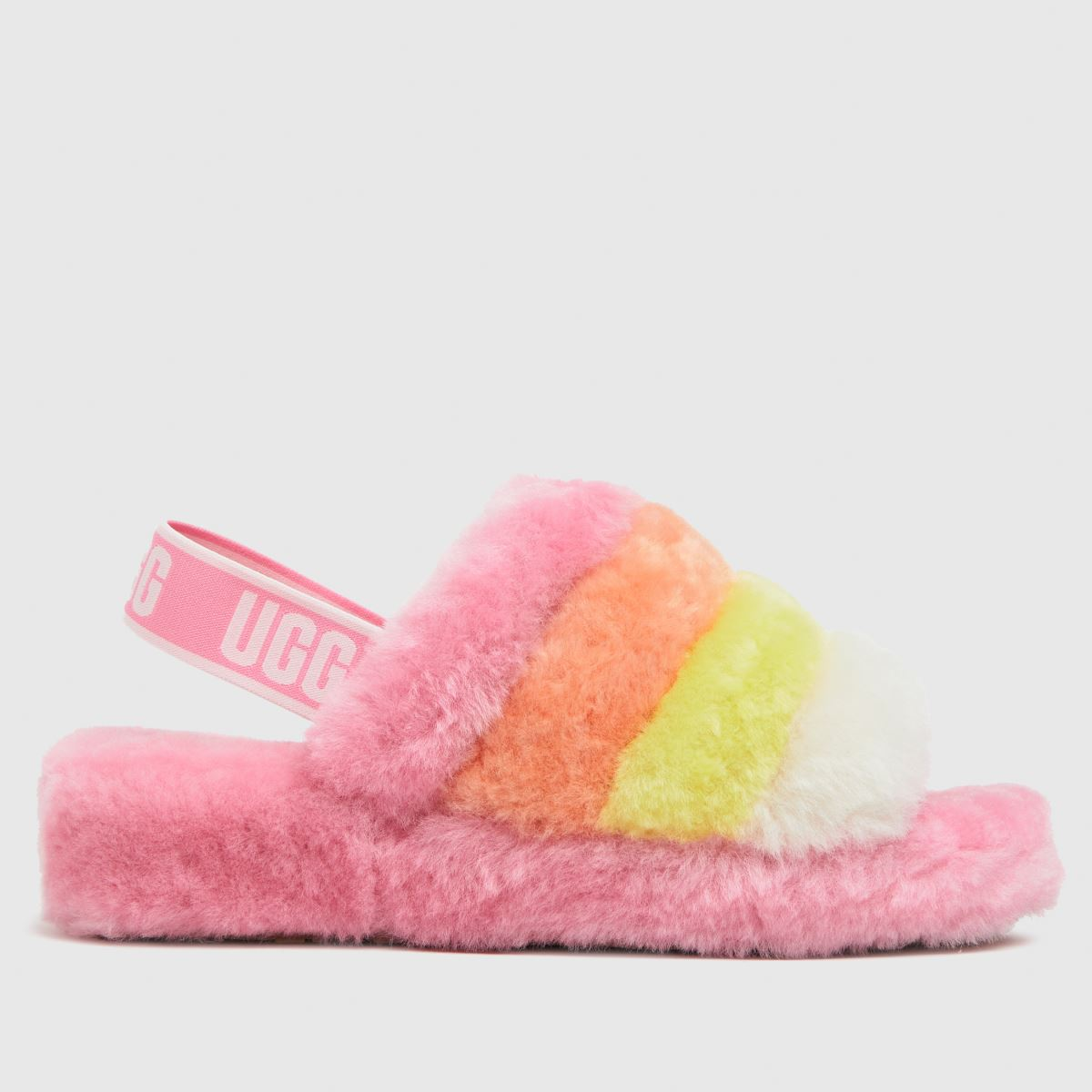UGG Pink Fluff Yeah Multi Slippers