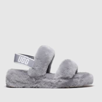 UGG Grey Oh Yeah Womens Slippers