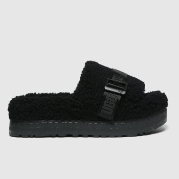 UGG Black Fluffita Womens Slippers