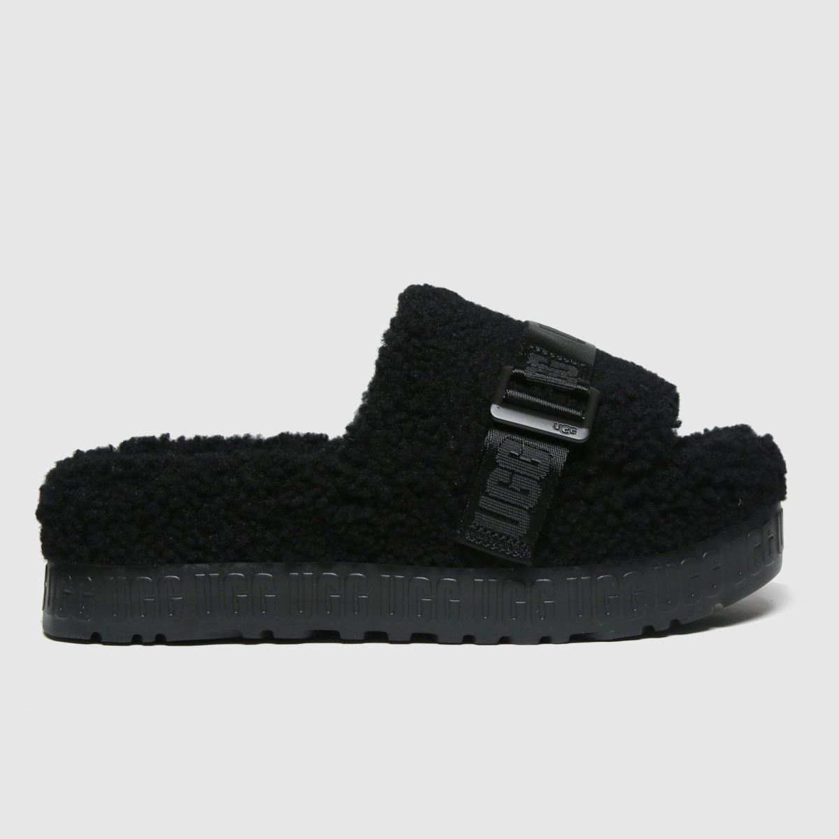UGG Black Fluffita Slippers