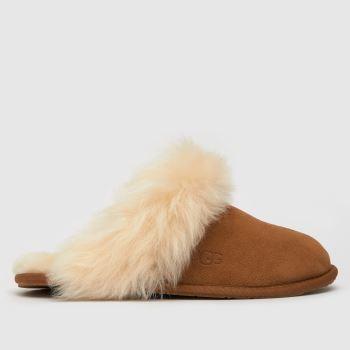 UGG Tan Scuff Sis Womens Slippers