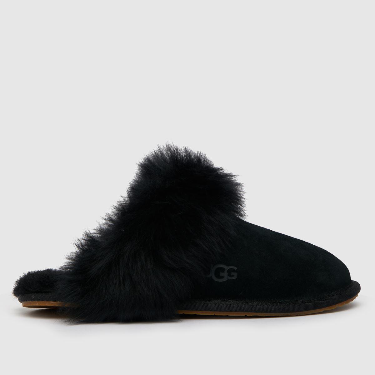 UGG Black Scuff Sis Slippers