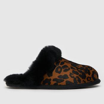 UGG Black & Brown Scuffette Ii Slippers