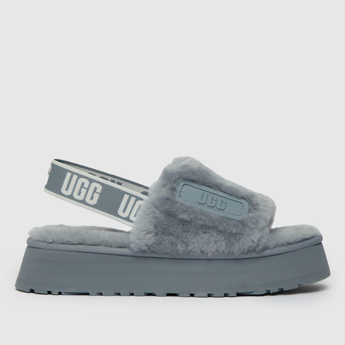 UGG Grey Disco Slide Slippers