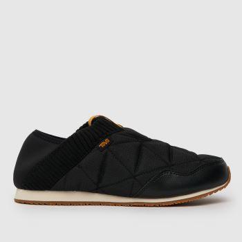 Teva Black Ember Moc Womens Slippers