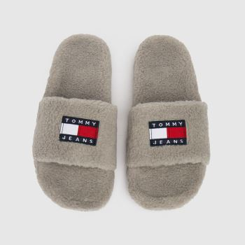 Tommy Hilfiger Grey Gizmo Womens Slippers