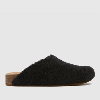 Steve Madden Black Vesa Slippers