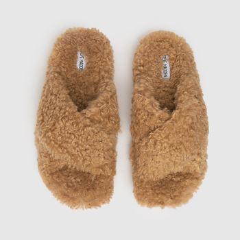 Steve Madden Tan Pillow Womens Slippers