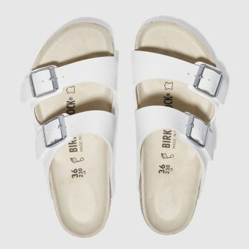Birkenstock White Arizona Womens Sandals#