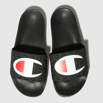 Champion Black Multi Lido Slide Womens Sandals