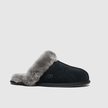 Ugg Black & Grey Scuffette Womens Slippers#