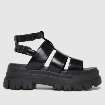 Buffalo London Black Aspha Vegan Womens Sandals
