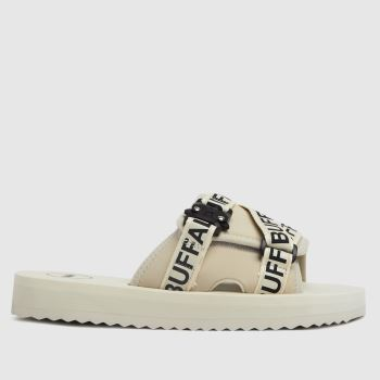 Buffalo London White Ruri Slide Womens Sandals