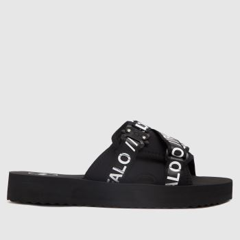 Buffalo London Black Ruri Slide Womens Sandals