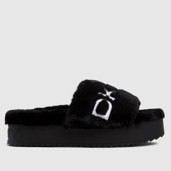 DKNY Black Palz Slipper Slide Womens Sandals